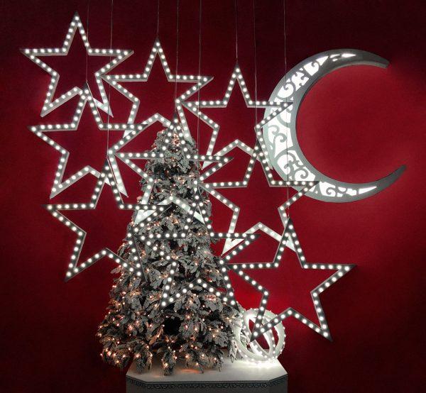 Новогодняя композиция со звездами